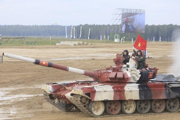 Vietnam impresiona a otros equipos de tanques en Juegos Militares en Rusia hinh anh 1