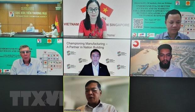 Vietnam promueve oportunidades de cooperacion con Singapur, UE y Reino Unido hinh anh 1