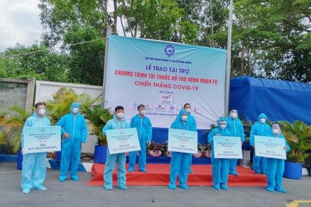 Entregan bolsas de medicamentos a pacientes del COVID-19 en Ciudad Ho Chi Minh hinh anh 1