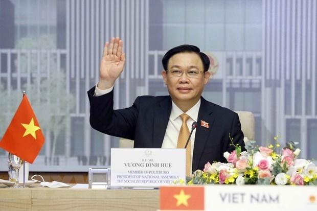 Presidente de Asamblea Nacional de Vietnam conversa con su homologo tailandes hinh anh 1
