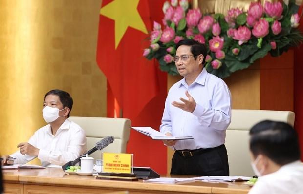Premier de Vietnam pide soluciones para maximizar recursos de tierra hinh anh 1