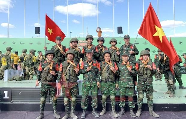 Vietnam con buenos resultados en Army Games 2021 hinh anh 1