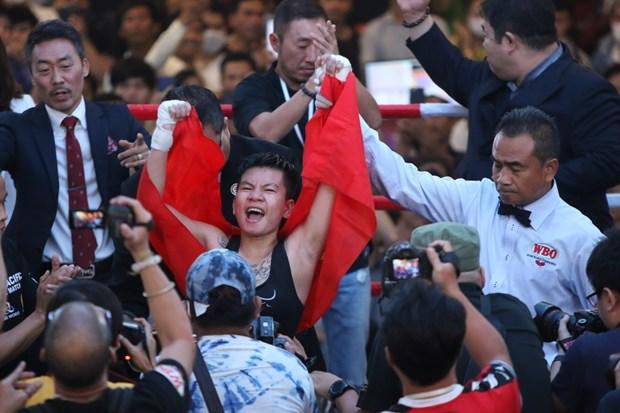 Boxeadora vietnamita por conquistar el cinturon mundial hinh anh 1