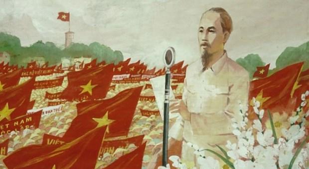 """Exposicion de bellas artes """"Camino de la Independencia"""" conmemora efemerides importantes de Vietnam hinh anh 1"""