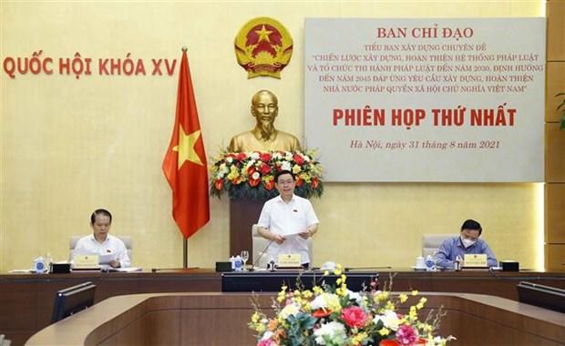 Promueven la construccion y perfeccionamiento del Estado de derecho socialista de Vietnam hinh anh 1