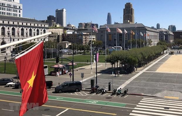 Efectuan en Estados Unidos ceremonia de izamiento de bandera por Dia Nacional de Vietnam hinh anh 1