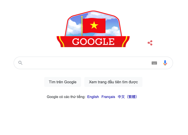 Google cambia su doodle en saludo al Dia Nacional de Vietnam hinh anh 1