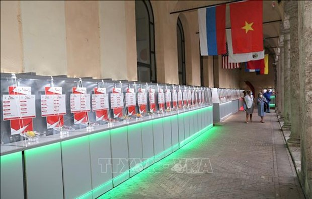 Prodotti agricoli vietnamiti esposti alla fiera internazionale in Italia hinh anh 1