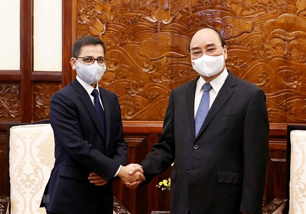 Presidente de Vietnam recibe al embajador indio hinh anh 1