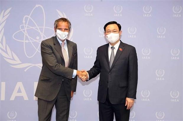 Presidente del Parlamento vietnamita se reune con director general de OIEA hinh anh 1