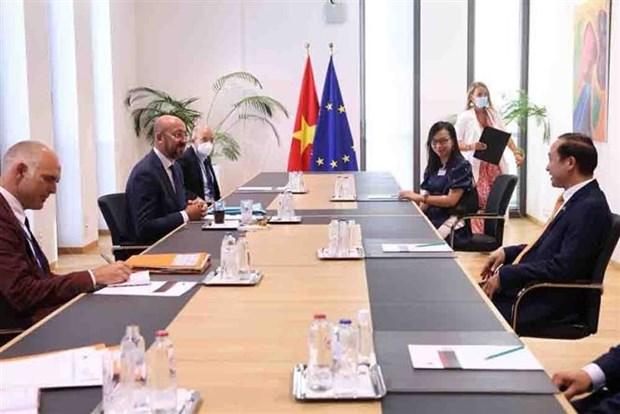 Belgica y UE dispuestas a fortalecer cooperacion con Vietnam hinh anh 2