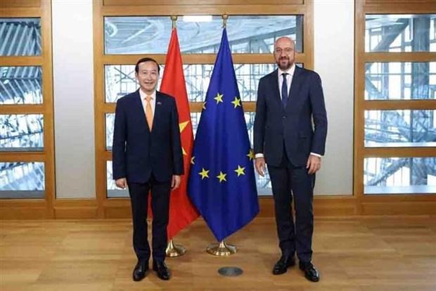 Belgica y UE dispuestas a fortalecer cooperacion con Vietnam hinh anh 1