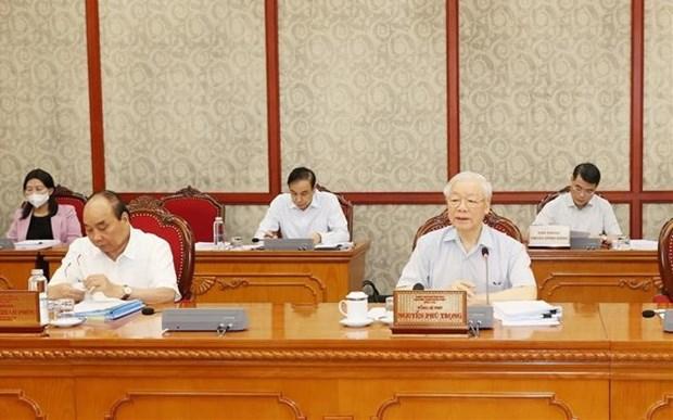 Maximo dirigente partidista de Vietnam exige reforzar labores anticorrupcion hinh anh 1