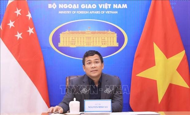 Vietnam y Singapur intercambian medidas en respuesta al COVID-19 hinh anh 1