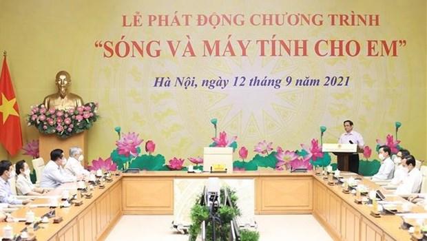 Lanzan en Vietnam programa de donacion de computadoras a estudiantes afectados por COVID-19 hinh anh 1
