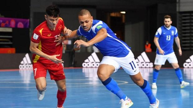 Vietnam pierde ante Brasil en su debut en el Mundial de Futbol Sala 2021 hinh anh 1