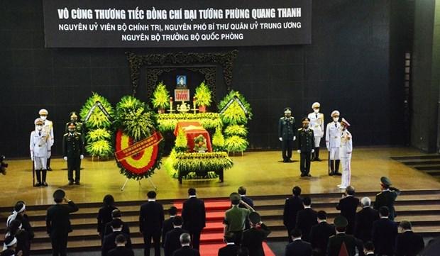Despiden con funeral de Estado al general vietnamita Phung Quang Thanh hinh anh 1