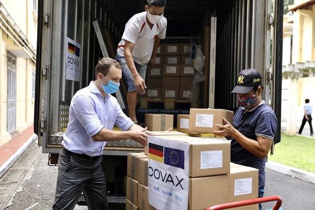 Recibe Vietnam 852 mil dosis de vacuna contra COVID-19 donadas por Alemania hinh anh 1