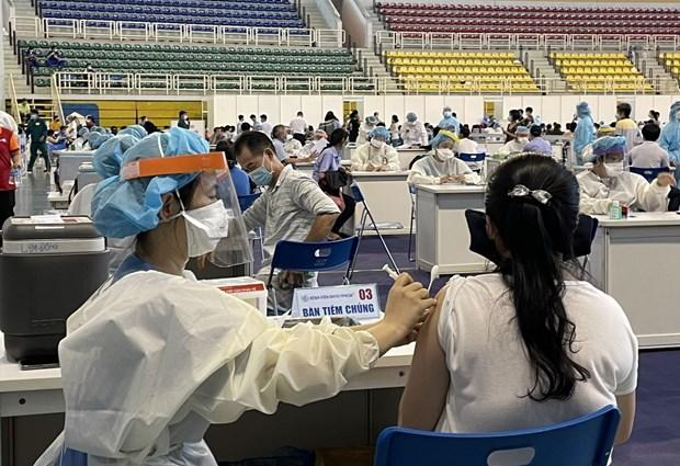 Ciudad Ho Chi Minh completa ronda de primera dosis de vacunas contra el COVID-19 hinh anh 1