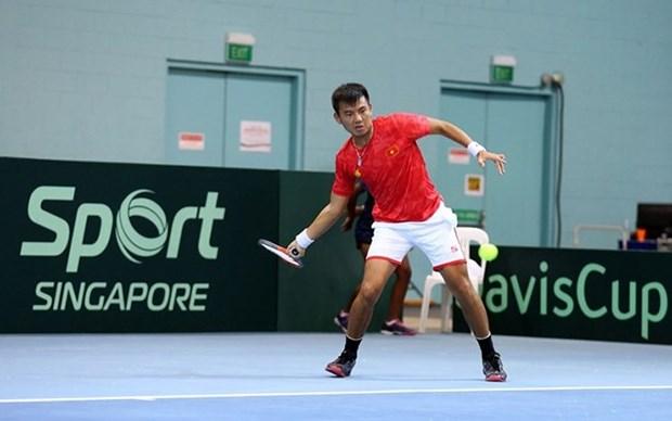 Equipo de tenis de Vietnam comienza con buen pie en la Copa Davis 2021 hinh anh 1