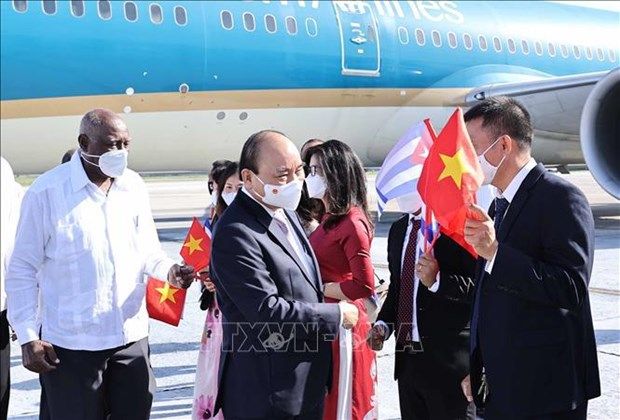Presidente de Vietnam inicia su visita oficial a Cuba hinh anh 1