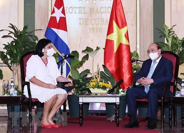Presidente vietnamita destaca relaciones de amistad con Cuba hinh anh 1
