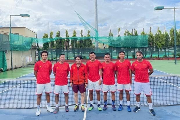 Vietnam gana boleto para ronda de playoffs de Copa Mundial de Tenis 2022 hinh anh 1
