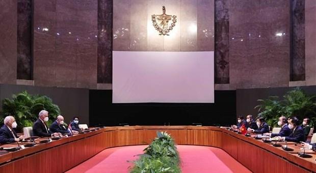 Presidentes de Vietnam y Cuba debaten orientaciones para consolidar lazos bilaterales hinh anh 1