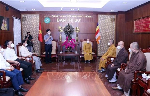 Valoran aportes de Sangha Budista de Vietnam a lucha contra el COVID-19 hinh anh 1