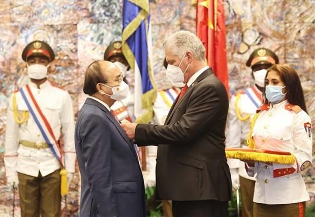 Vietnam y Cuba emiten declaracion conjunta hinh anh 1