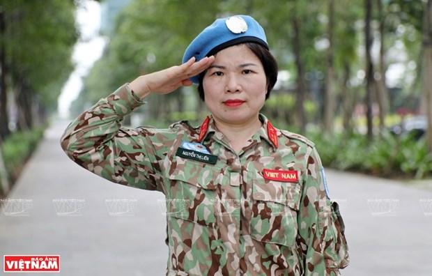 La destacada labor de una oficial vietnamita en la Republica Centroafricana hinh anh 1