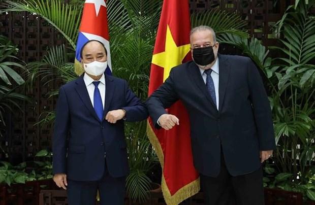 Concluye presidente de Vietnam visita oficial a Cuba hinh anh 1