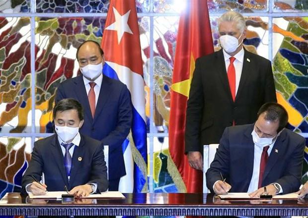 Concluye presidente de Vietnam visita oficial a Cuba hinh anh 3