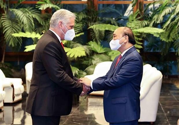 Concluye presidente de Vietnam visita oficial a Cuba hinh anh 2