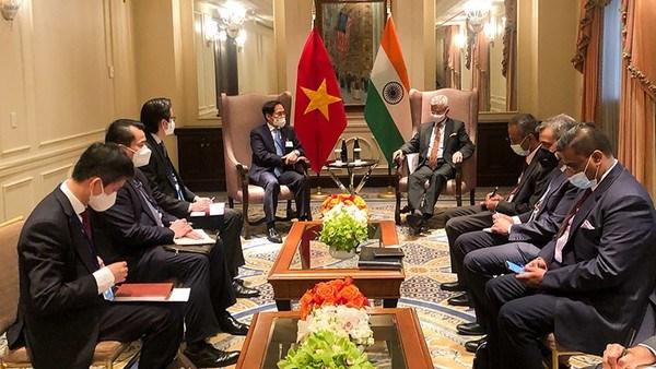 Canciller vietnamita cumple amplia agenda de encuentros en Nueva York hinh anh 1