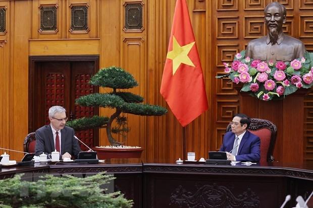 Primer ministro de Vietnam aspira a fortalecer cooperacion con Francia en sector de salud hinh anh 1