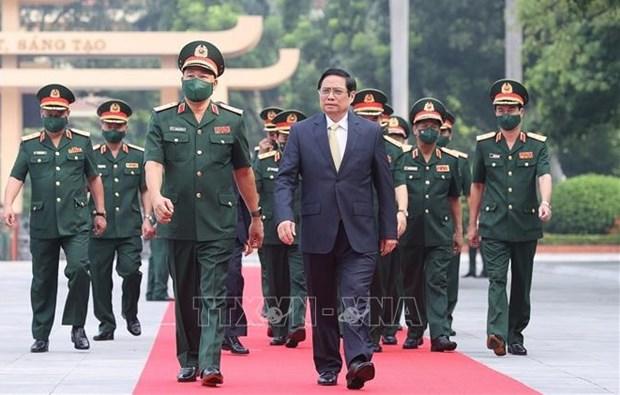 Primer ministro vietnamita realza atencion a capacitacion de Academia de Defensa hinh anh 1