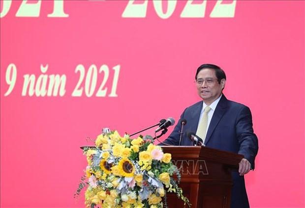 Primer ministro vietnamita realza atencion a capacitacion de Academia de Defensa hinh anh 2