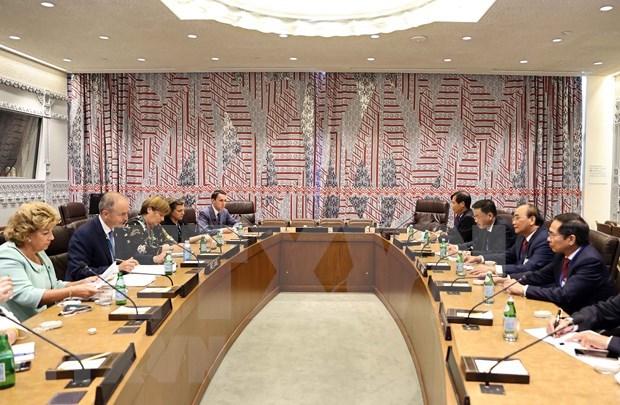 Presidente de Vietnam dialoga con dirigentes de paises y organizaciones internacionales hinh anh 2