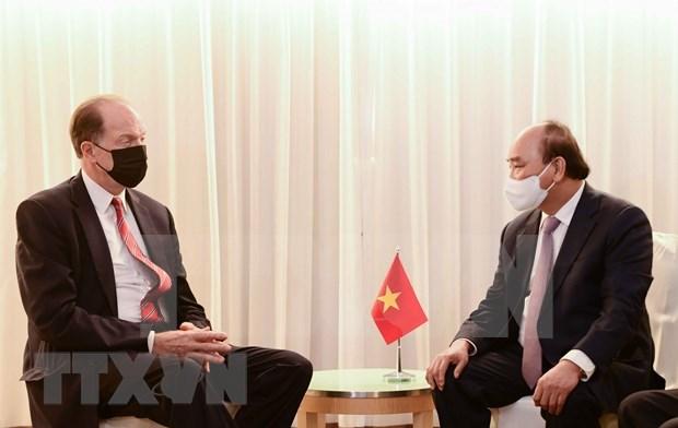 Presidente de Vietnam dialoga con dirigentes de paises y organizaciones internacionales hinh anh 4