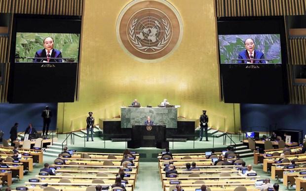 Vietnam comparte con el mundo lucha contra el COVID-19, afirma presidente Xuan Phuc hinh anh 3