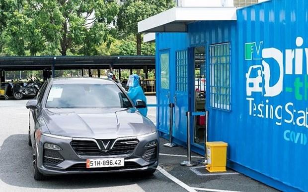 Implementan en Vietnam primera estacion de prueba del COVID-19 segun modelo de Drive-Thru hinh anh 1