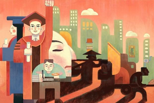 UNESCO divulga premios de concurso de pintura sobre Hanoi hinh anh 4