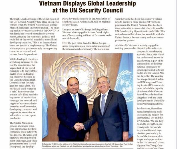The Washington Times: Vietnam reafirma su papel de liderazgo global hinh anh 1