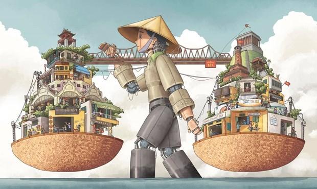 UNESCO divulga premios de concurso de pintura sobre Hanoi hinh anh 1
