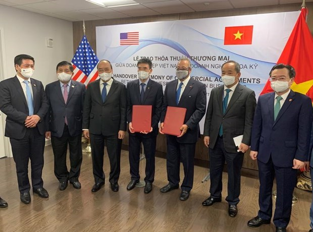 Rubrican empresa petrolera vietnamita y grupo estadounidense importante acuerdo de cooperacion hinh anh 1