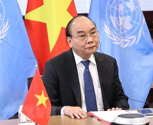 Presidente de Vietnam enfatiza la necesidad de intensificar la cooperacion global contra pandemia hinh anh 1