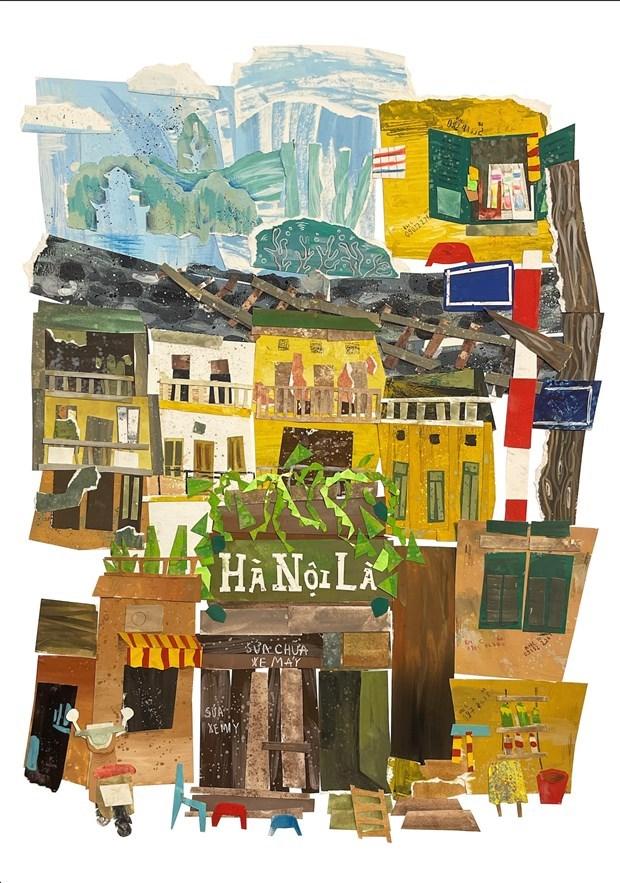 UNESCO divulga premios de concurso de pintura sobre Hanoi hinh anh 5