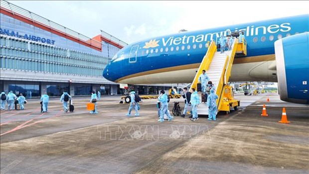 Aeropuerto vietnamita recibe a pasajeros procedentes de Francia con pasaportes de vacunacion hinh anh 1