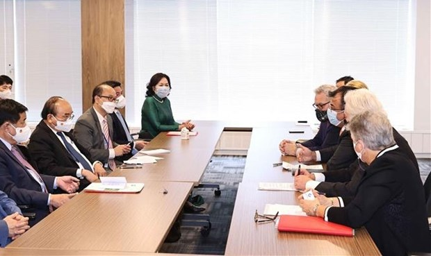 Presidente de Vietnam dialoga con inversores estadounidenses hinh anh 1